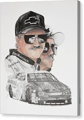 Racing Canvas Print - Dale Earnhardt Sr. The Intimator by Joe Lisowski