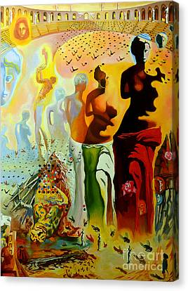 Face Canvas Print - Dali Oil Painting Reproduction - The Hallucinogenic Toreador by Mona Edulesco