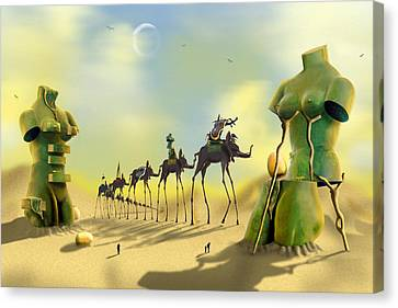 Dali On The Move  Canvas Print