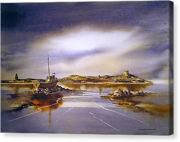 Dalkey Island Dawn Canvas Print by Roland Byrne