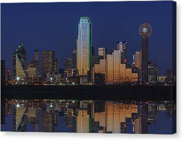 Dallas Aglow Canvas Print by Rick Berk