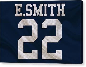Dallas Cowboys Emmitt Smith Canvas Print by Joe Hamilton