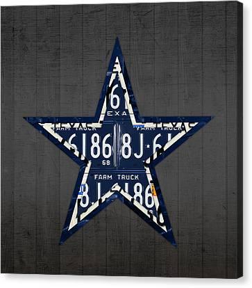 Dallas Cowboys Football Team Retro Logo Texas License Plate Art Canvas Print by Design Turnpike