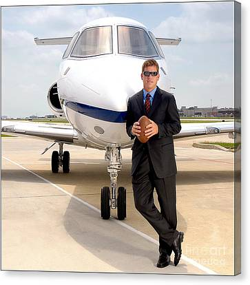 Dallas Cowboys Superbowl Quarterback Troy Aikman Canvas Print
