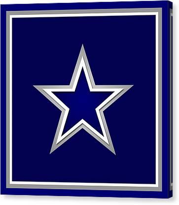 Dallas Cowboys Canvas Print by Tony Rubino