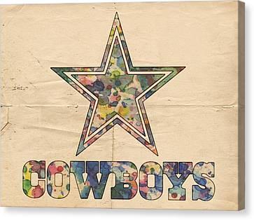 Dallas Cowboys Vintage Art Canvas Print by Florian Rodarte