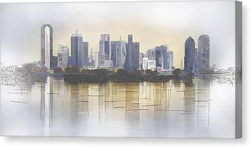 Dallas Canvas Print by David and Carol Kelly