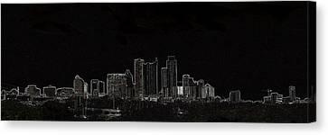 Canvas Print featuring the photograph Dallas Glow Skyline by Ellen O'Reilly