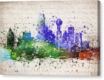 Dallas In Color Canvas Print by Aged Pixel