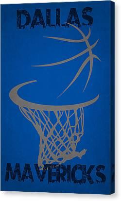 Maverick Canvas Print - Dallas Mavericks Hoop by Joe Hamilton