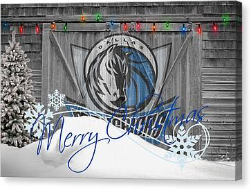 Dallas Mavericks Canvas Print by Joe Hamilton
