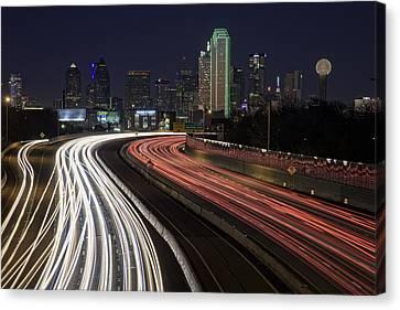 Dallas Night Canvas Print by Rick Berk