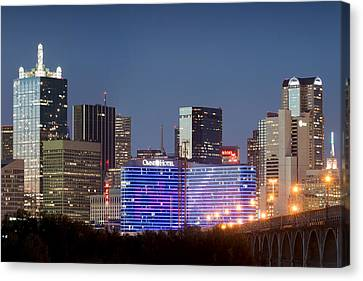 Dallas Omni Hotel In Blue Canvas Print