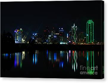Dallas Reflections Canvas Print by Charles Dobbs