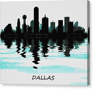 Dallas Skyline Canvas Print - Dallas Skyline by David Pringle