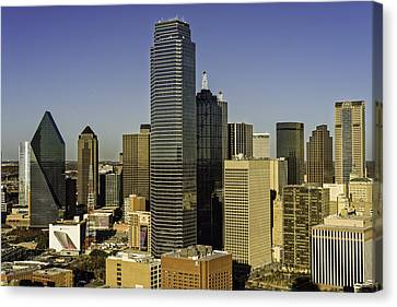 Dallas Skyline Golden Hour Canvas Print
