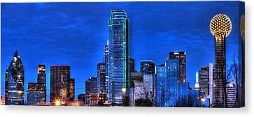 Dallas Skyline Hd Canvas Print by Jonathan Davison