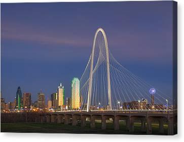 Dallas Skyline In The Evening 1 Canvas Print by Rob Greebon