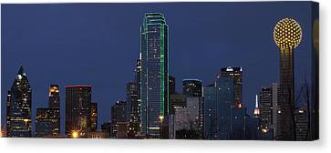 Dallas Skyline Canvas Print by Jonathan Davison