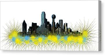 Dallas Skyline Canvas Print by Mim White