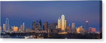 Dallas Skyline Panorama From East Of Downtown Canvas Print by Rob Greebon