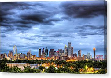 Dallas Skyline Canvas Print by Shawn Everhart