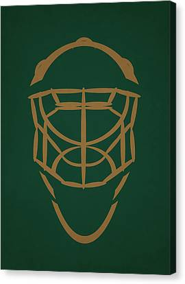 Dallas Stars Goalie Mask Canvas Print by Joe Hamilton