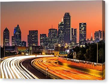 Canvas Print featuring the photograph Dallas Sunrise by Mihai Andritoiu