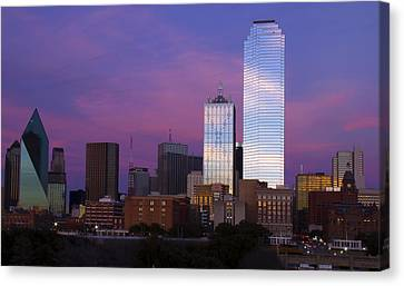 Dallas Sunset Canvas Print
