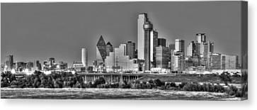 Dallas Skyline Canvas Print - Dallas The New Gotham City  by Jonathan Davison