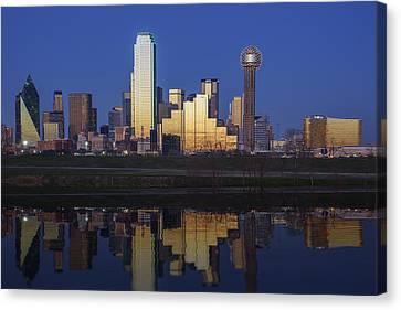 Dallas Twilight Canvas Print by Rick Berk