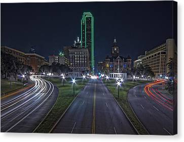 Dallas West End At Night Canvas Print
