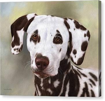 Dalmatian Painting Canvas Print by Rachel Stribbling