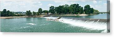 Dam At Batesville Arkansas Canvas Print by Douglas Barnett