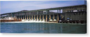 Dam On A River, Chickamauga Dam Canvas Print by Panoramic Images