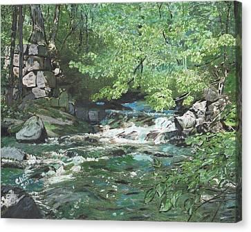 Dam Site Canvas Print