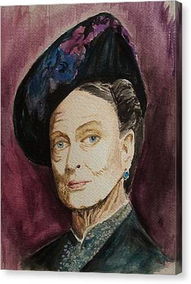 Dame Maggie Smith Canvas Print by Amber Stanford