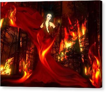 Dame Of Destruction Canvas Print