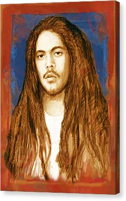 Damian Marley - Stylised Drawing Art Poster Canvas Print by Kim Wang
