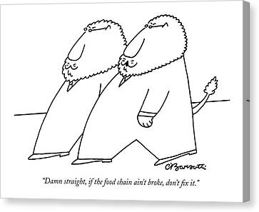 Damn Straight Canvas Print by Charles Barsotti