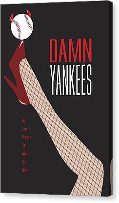 Damn Yankees 3 Canvas Print by Ron Regalado