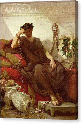 Damocles Canvas Print by Thomas Couture
