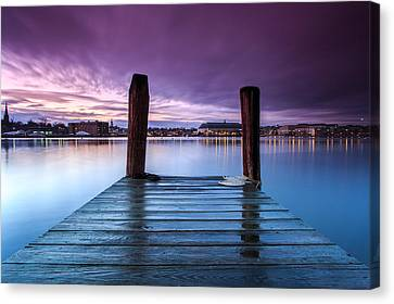 Damp Sunset Canvas Print
