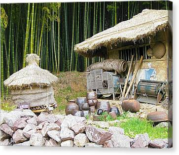 Bamboo House Canvas Print - Damyang Bamboo Forests by Lanjee Chee