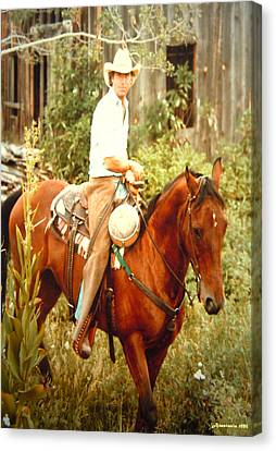 Dan Fogelberg Riding By The Old Schoolhouse Canvas Print by Anastasia Savage Ealy