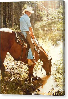 Dan Fogelberg Scenes From A Western Romance I Canvas Print by Anastasia Savage Ealy