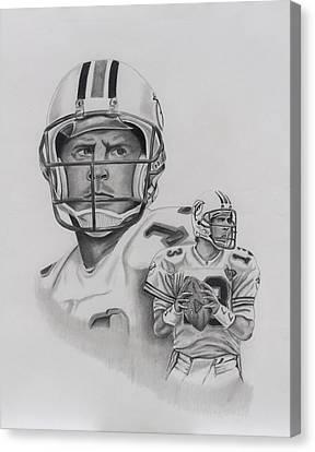Dan Marino Canvas Print by Billy Burdette