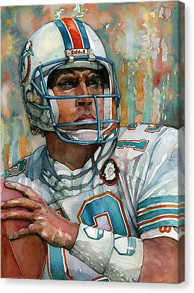 Dan Marino Canvas Print by Michael  Pattison