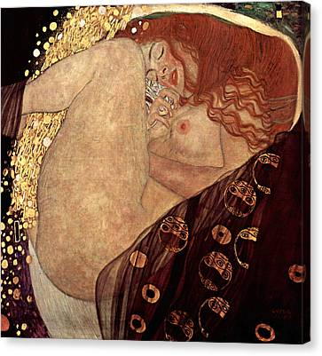 Danae Canvas Print by Gustive Klimt