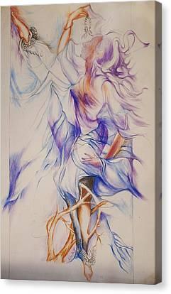 Dance - 2 Canvas Print by Bhanu Dudhat